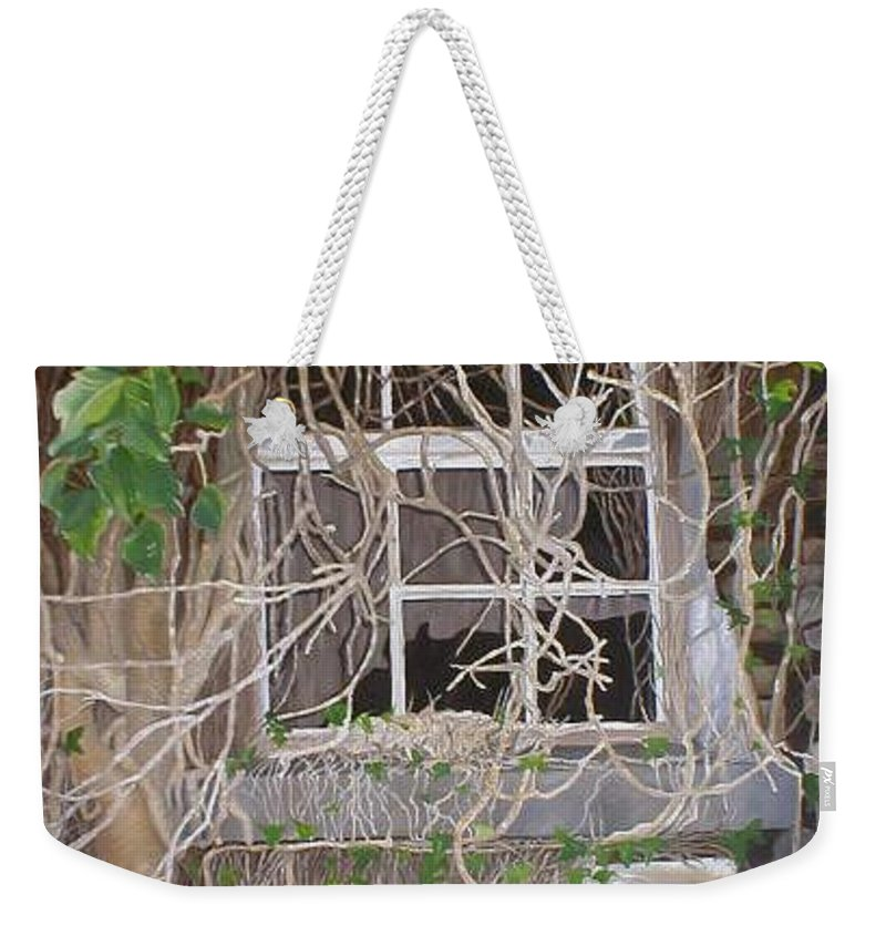 Landscape Weekender Tote Bag featuring the painting Tangle Of Memories-clounleharde School by Pauline Sharp