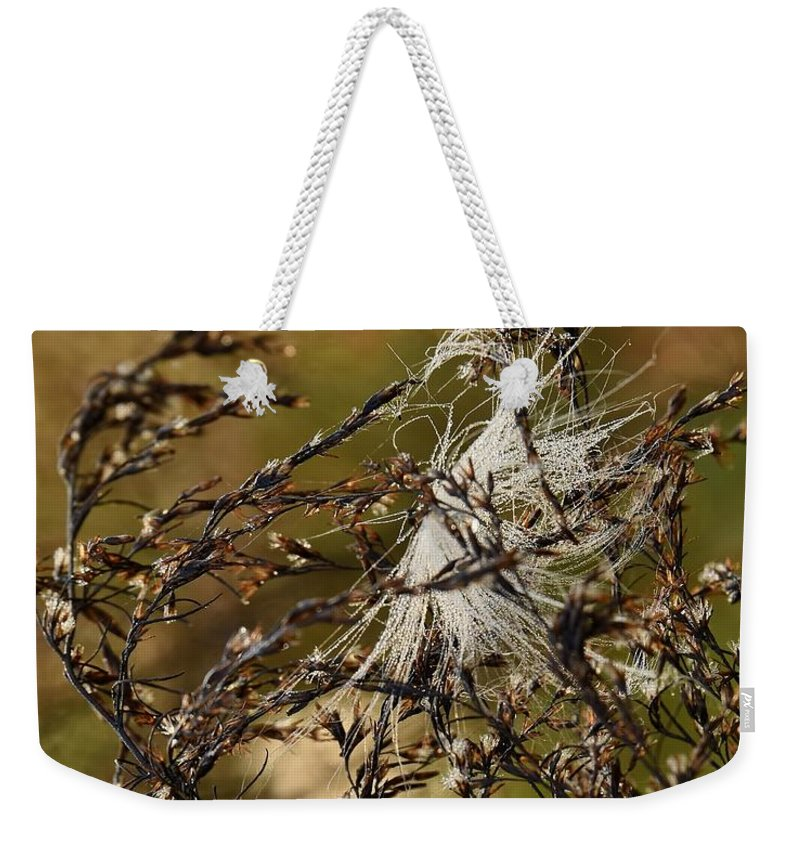 Tangles Puff Weekender Tote Bag featuring the photograph Tangled Puff by Lisa Renee Ludlum