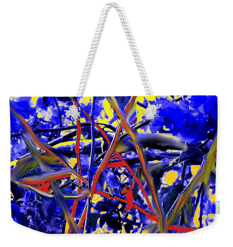 Abstract Weekender Tote Bag featuring the photograph Tangled Web by Ian MacDonald