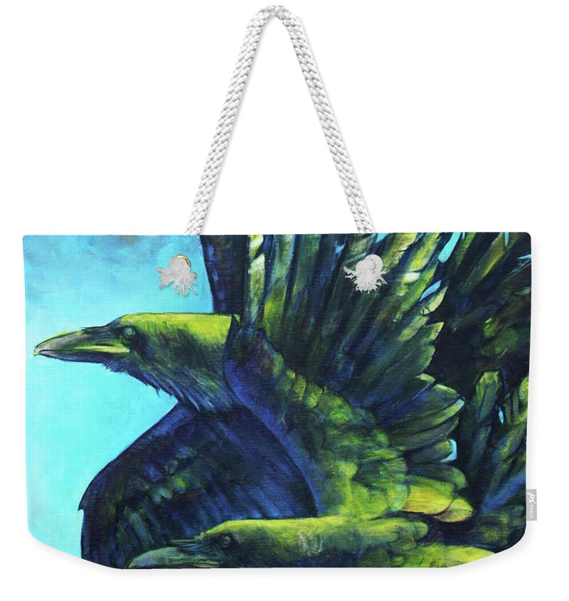 Raven Weekender Tote Bag featuring the painting Tango by Joseph Rizzo