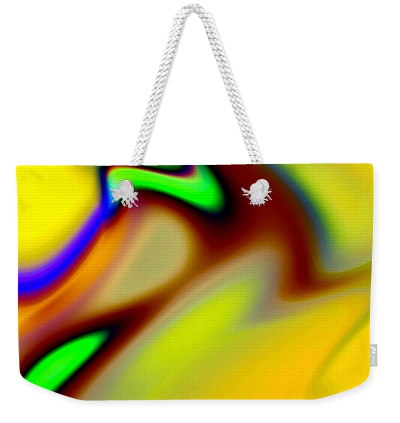 Abstract Weekender Tote Bag featuring the digital art Tango by Ruth Palmer