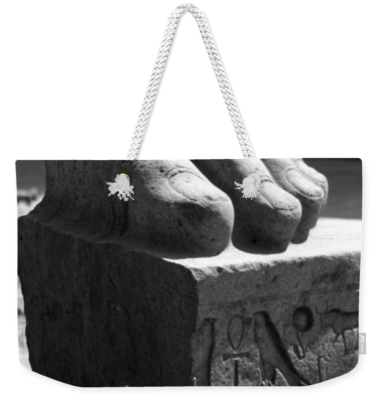 Tanis Weekender Tote Bag featuring the photograph Tanis Foot by Donna Corless