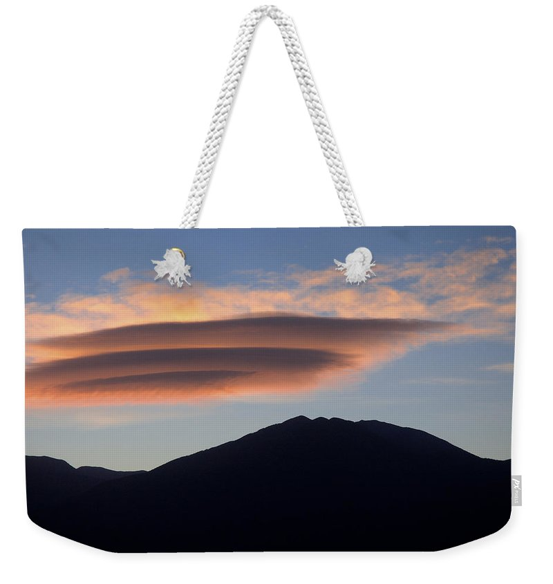 Taos Weekender Tote Bag featuring the photograph Taos Sunset by Jerry McElroy