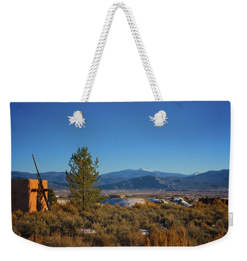 Santa Weekender Tote Bag featuring the photograph Taos Valley by Charles Muhle