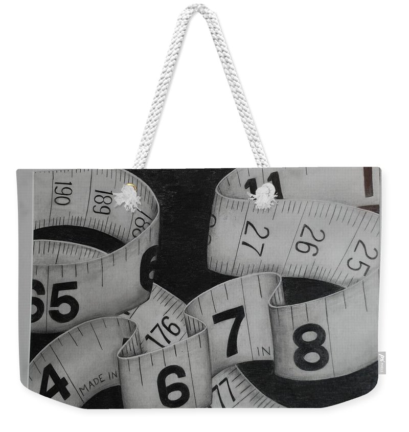 Numbers Weekender Tote Bag featuring the photograph Tape Measure by Rob Hans