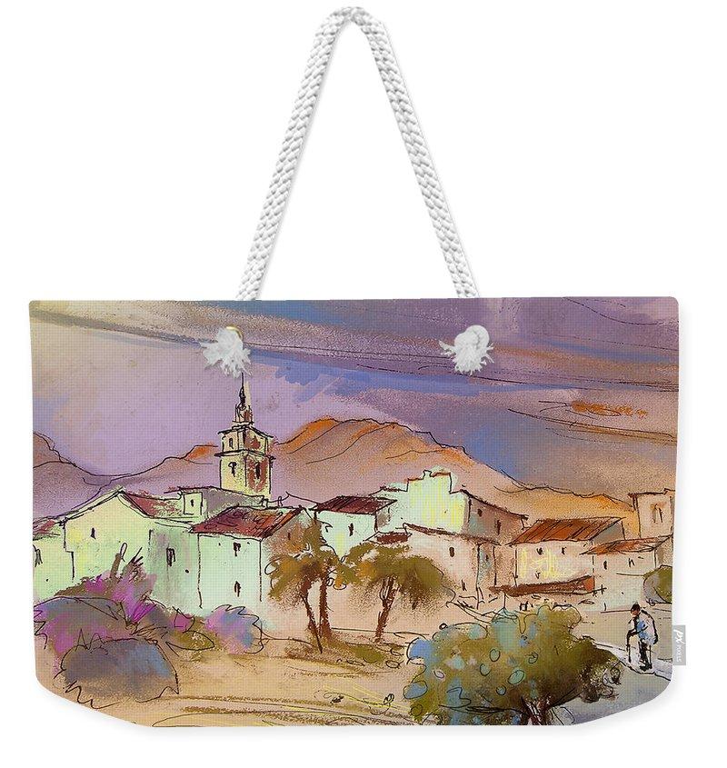 Tarbena Painting Weekender Tote Bag featuring the painting Tarbena 08 by Miki De Goodaboom