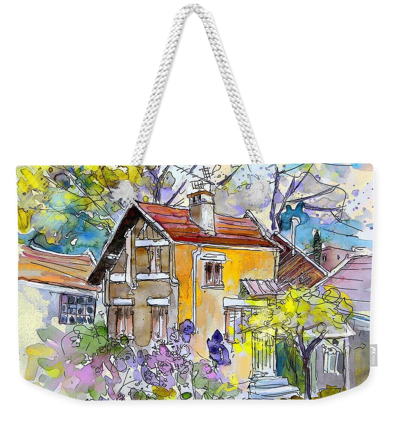 Tarbes Weekender Tote Bag featuring the painting Tarbes 03 by Miki De Goodaboom