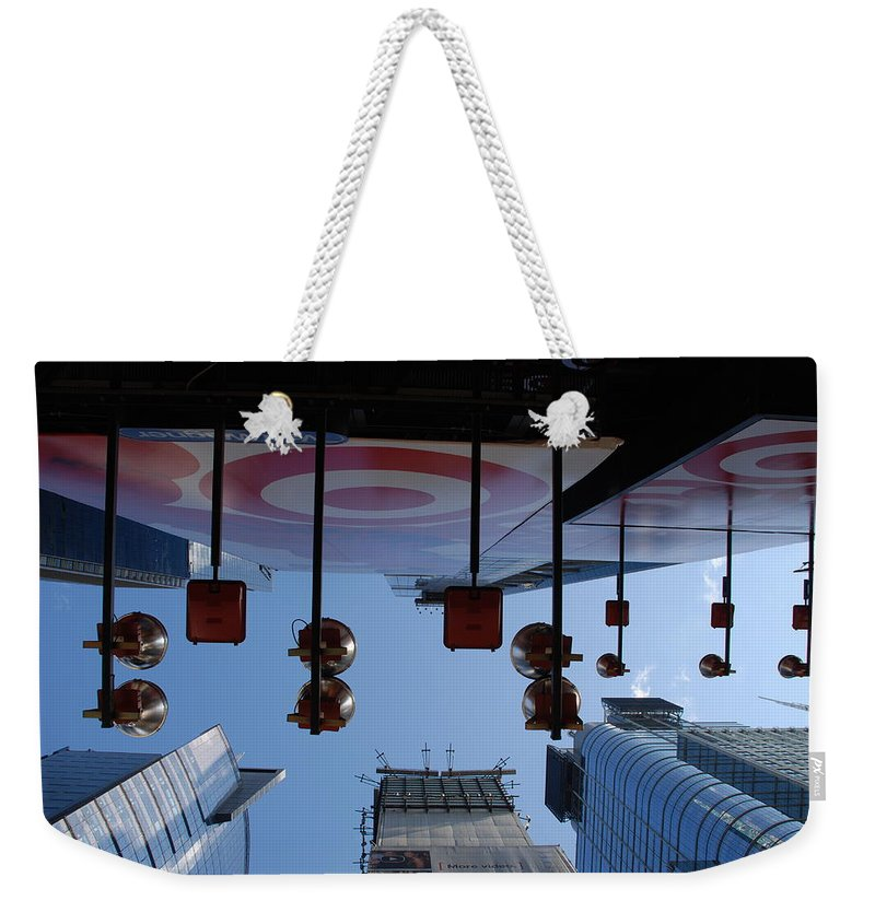Architecture Weekender Tote Bag featuring the photograph Target Lights by Rob Hans