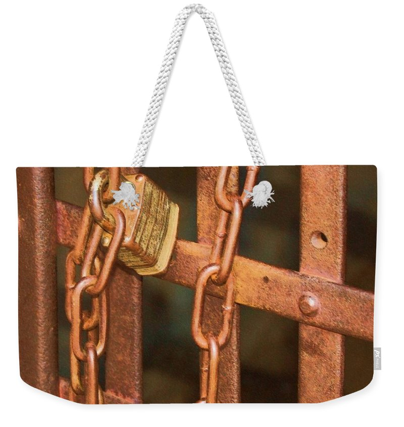 Metal Weekender Tote Bag featuring the photograph Tarnished Image by Debbi Granruth
