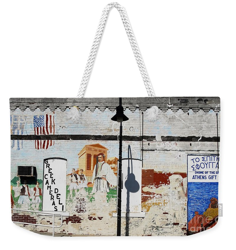 Greek Weekender Tote Bag featuring the photograph Tarpon Springs by David Lee Thompson
