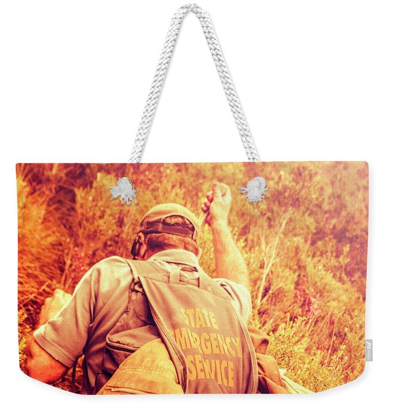 Emergency Service Photographs Weekender Tote Bags