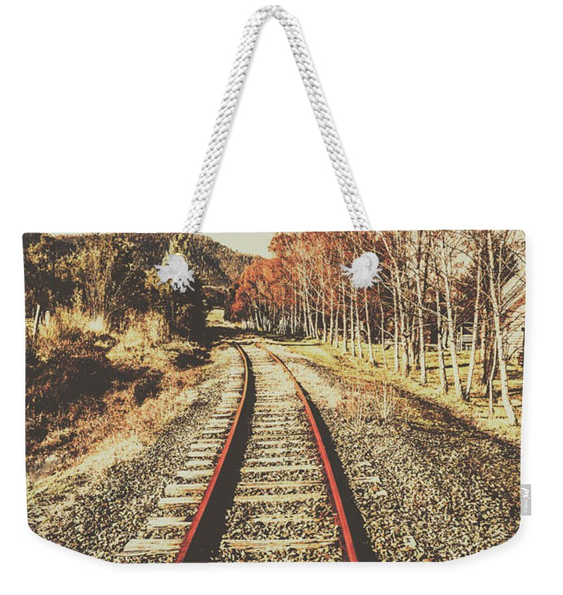 Vintage Weekender Tote Bag featuring the photograph Tasmanian Country Tracks by Jorgo Photography - Wall Art Gallery