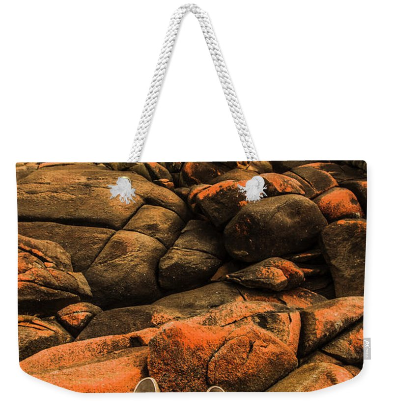 Australian Weekender Tote Bag featuring the photograph Tasmanian Tourist Kicking Back by Jorgo Photography - Wall Art Gallery