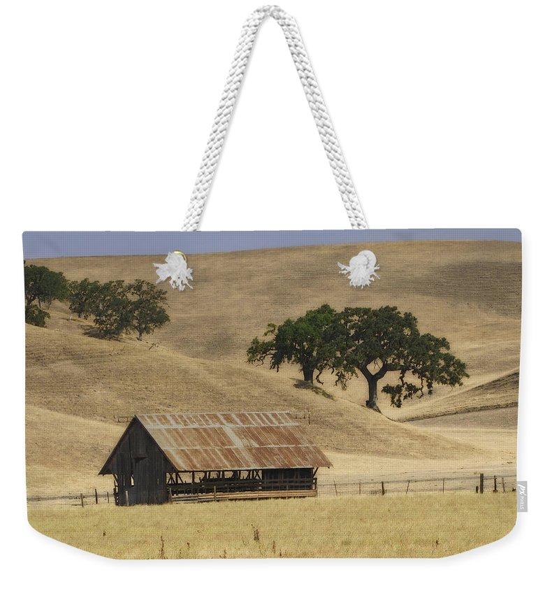 Landscapes Weekender Tote Bag featuring the photograph Tassajara Road by Karen W Meyer