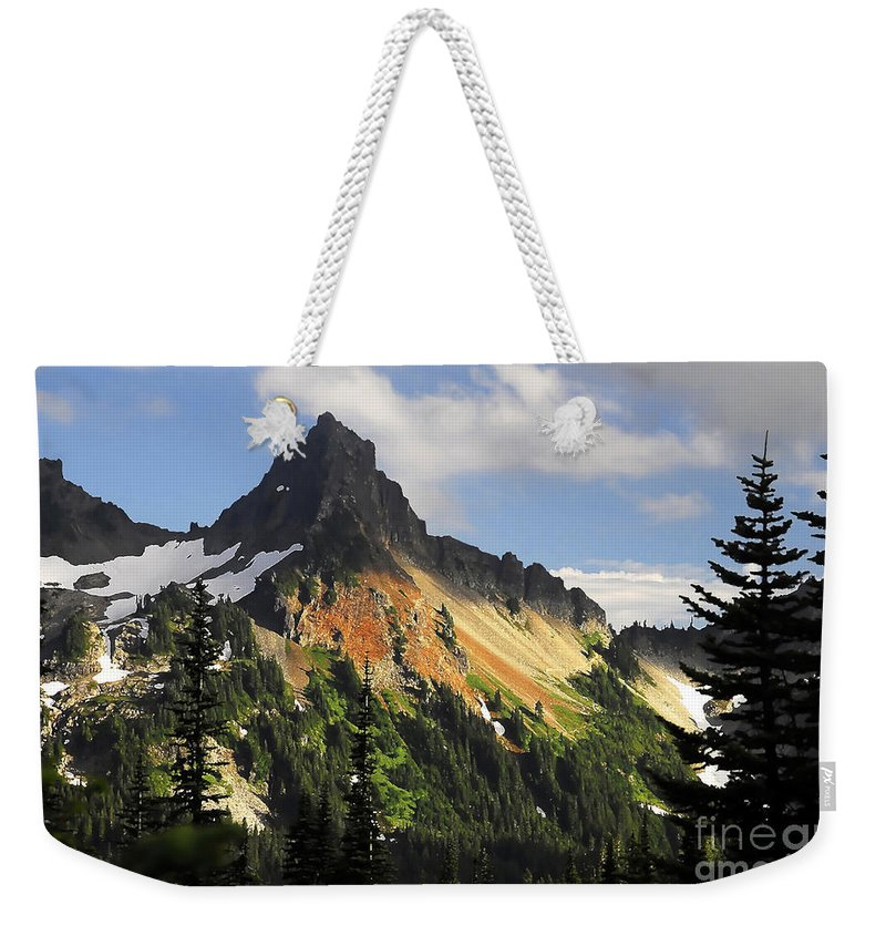 Mountains Weekender Tote Bag featuring the photograph Tatosh Range by David Lee Thompson