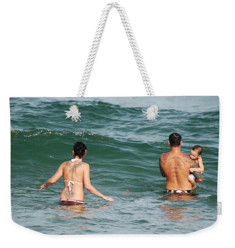 Sea Scape Weekender Tote Bag featuring the photograph Tattoo Family by Rob Hans