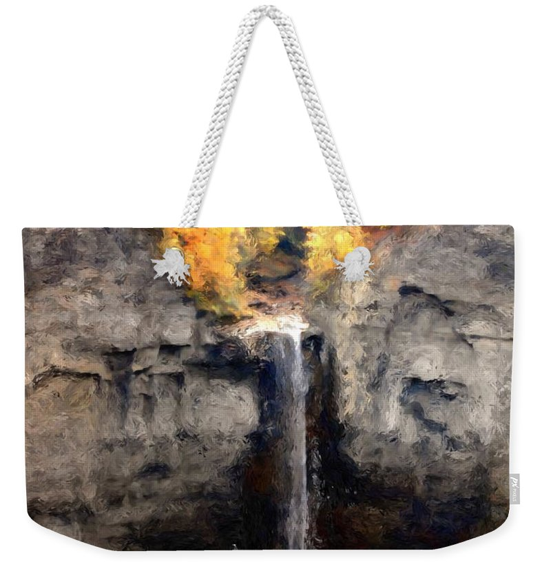 Taughannock Falls Weekender Tote Bag featuring the photograph Taughannock Falls by David Lane