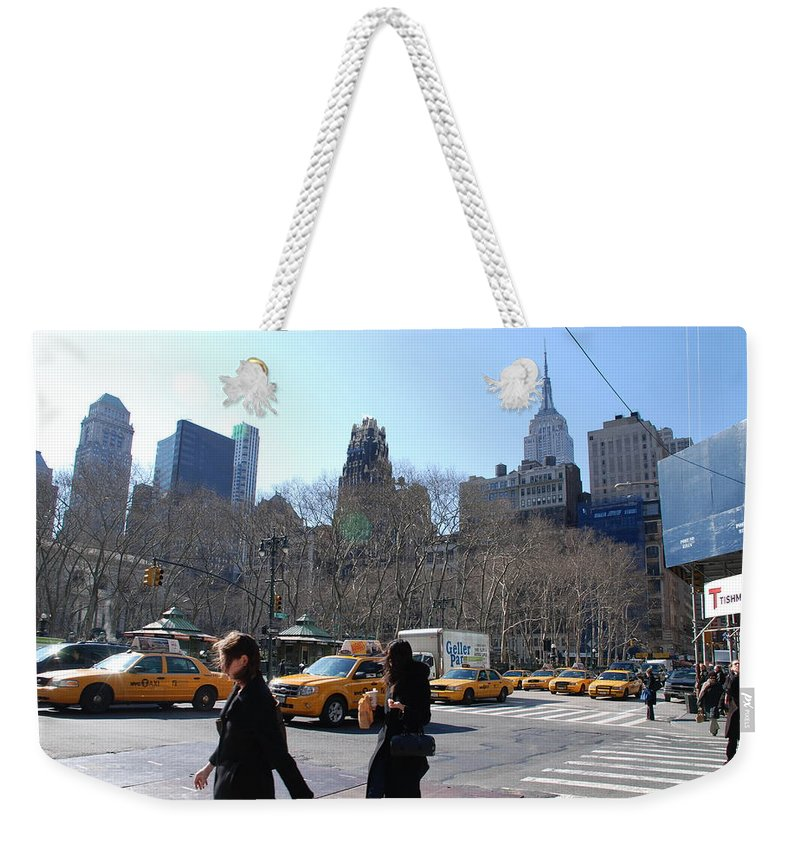 Taxi Weekender Tote Bag featuring the photograph Taxi Anyone by Rob Hans