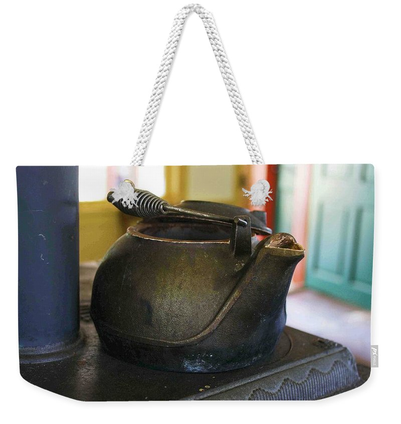 Tea Kettle Weekender Tote Bag featuring the photograph Tea Kettle by Nelson Strong