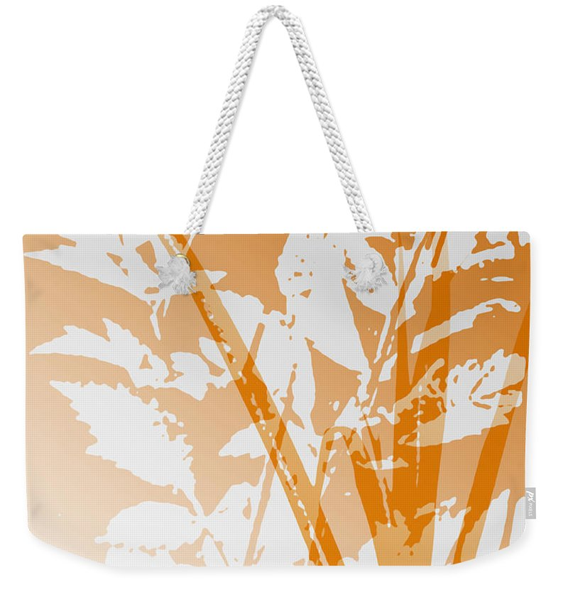 Abstract Weekender Tote Bag featuring the digital art Team Orange by Ruth Palmer