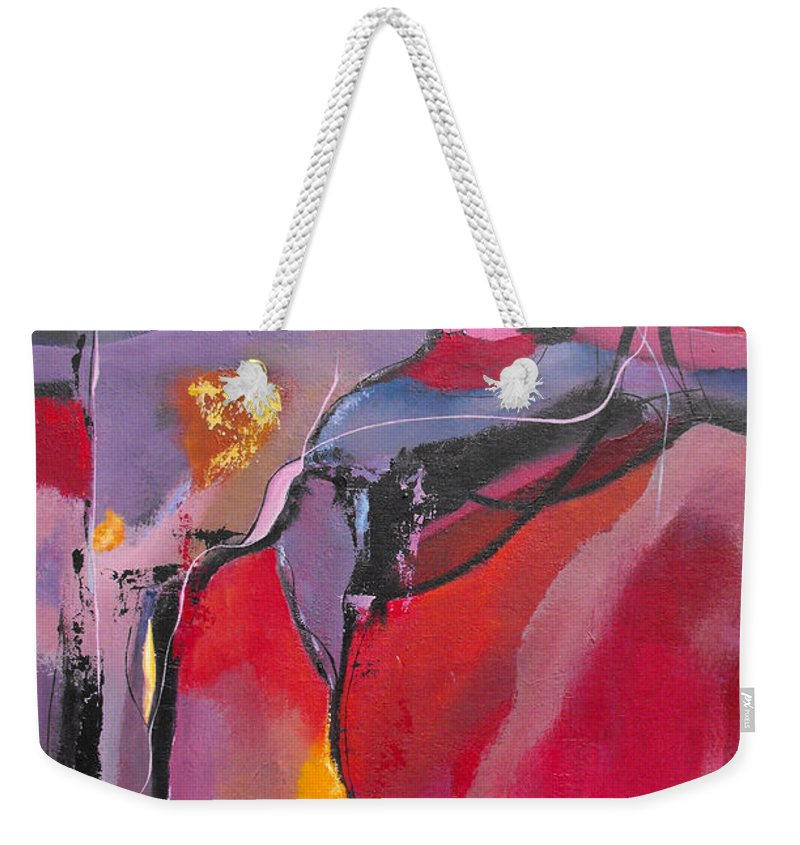 ruth Palmer Weekender Tote Bag featuring the painting Teamwork by Ruth Palmer