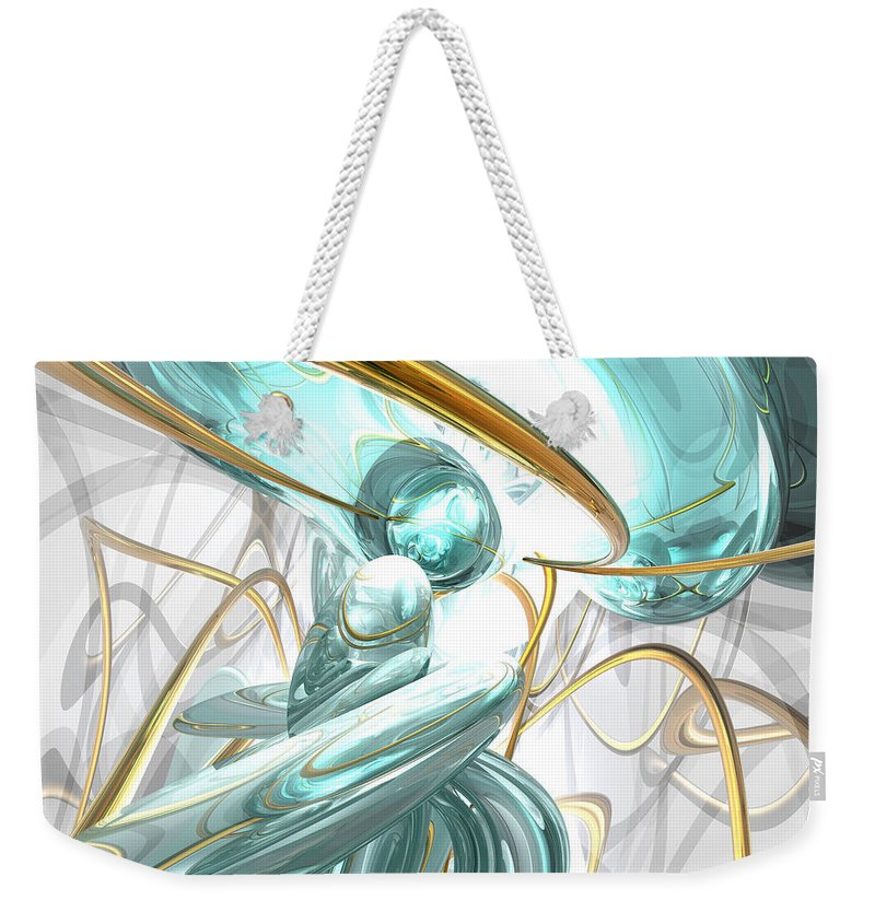 3d Weekender Tote Bag featuring the digital art Teary Dreams Abstract by Alexander Butler