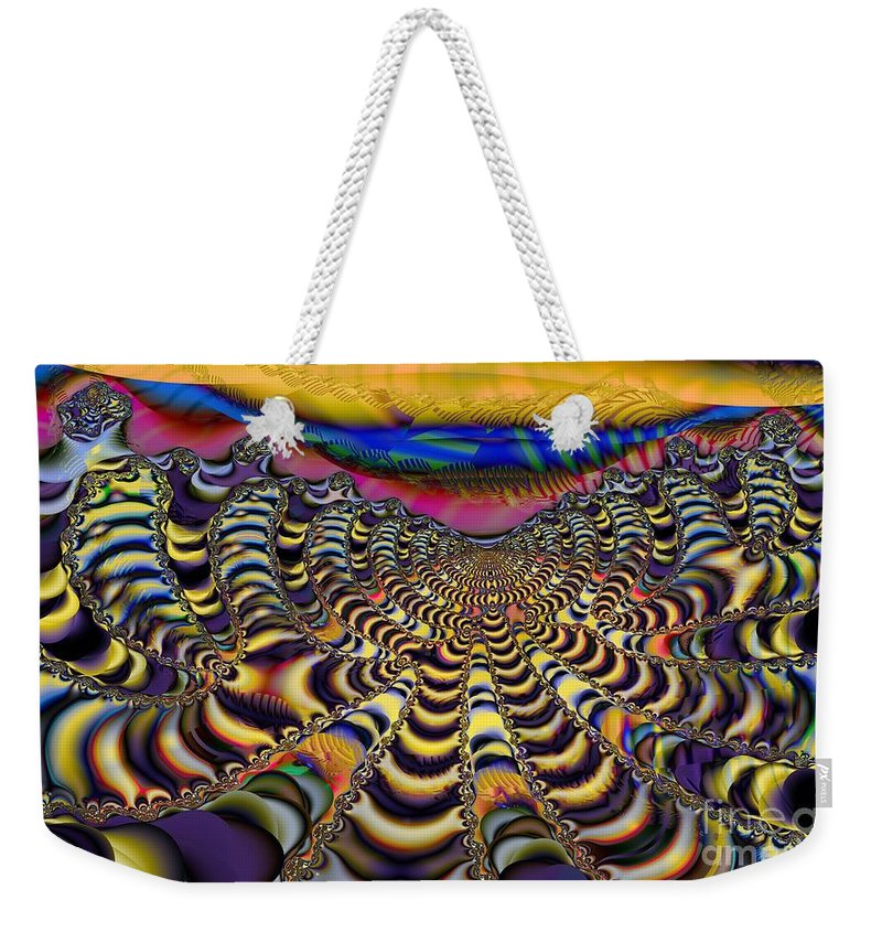 Cloudy Day Weekender Tote Bag featuring the digital art Technicloudy by Ron Bissett