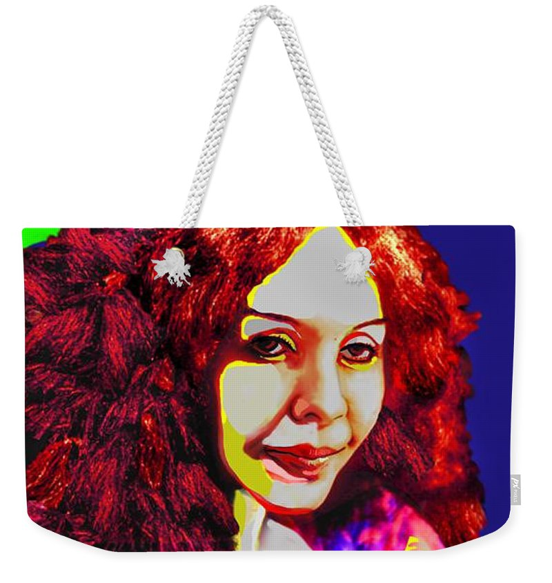 Pop Art Weekender Tote Bag featuring the painting Technicolour Dreamer By Jorge Gomez by Rusty Gladdish