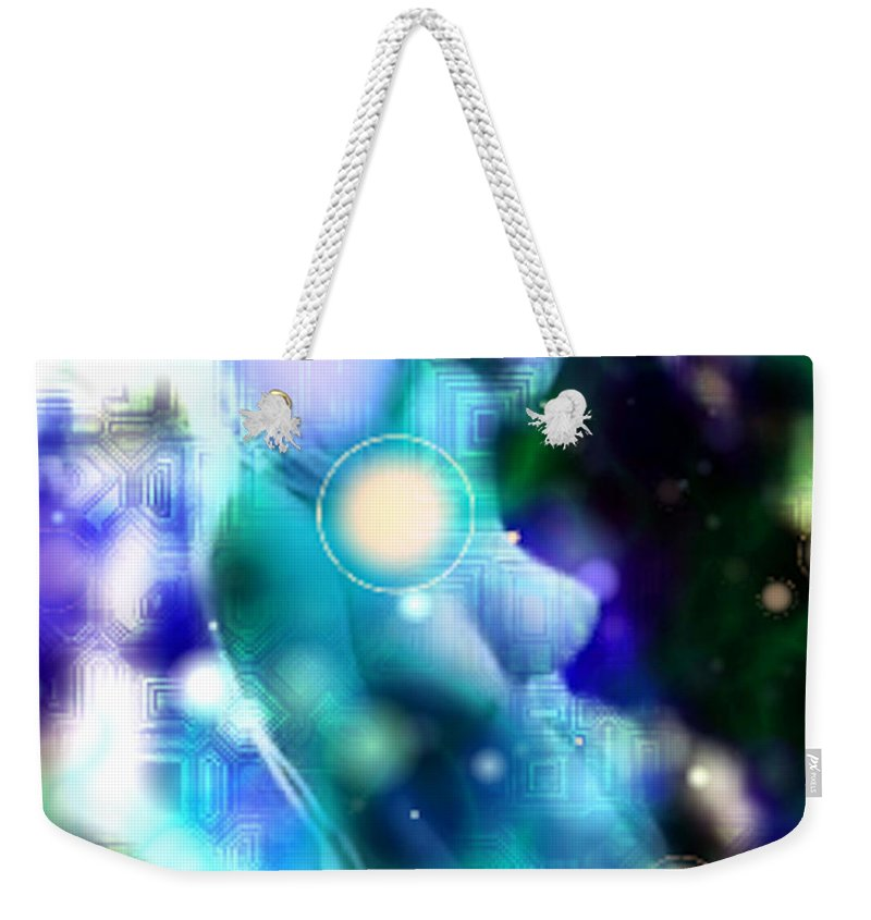 Digital Art Style Weekender Tote Bag featuring the photograph Techno Nude by Mario Carini
