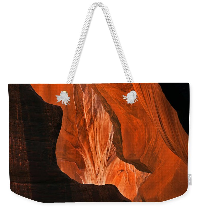 Desert Weekender Tote Bag featuring the photograph Tectonic Plates by Mike Dawson