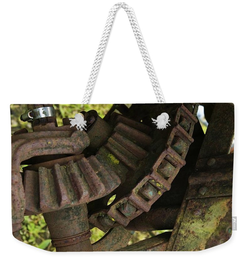 Gear Weekender Tote Bag featuring the photograph Teeth by Sara Stevenson