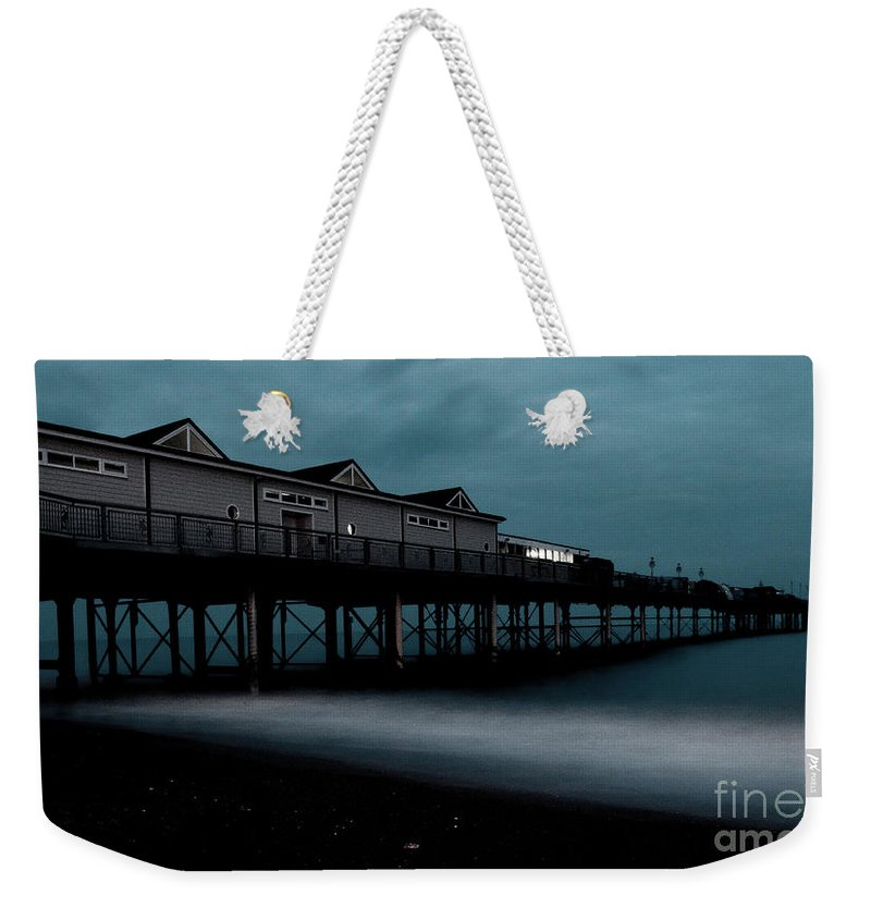 Teignmouth Weekender Tote Bag featuring the photograph Teignmouth Pier At Dusk by Rob Hawkins