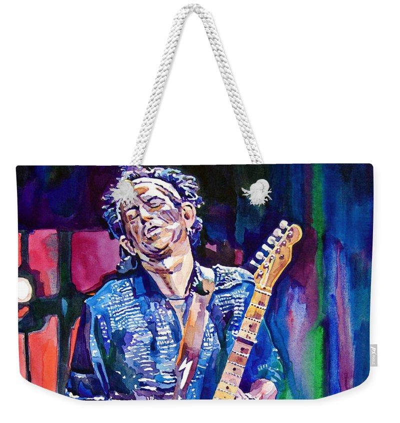 Rolling Stones Keith Richards Weekender Tote Bags