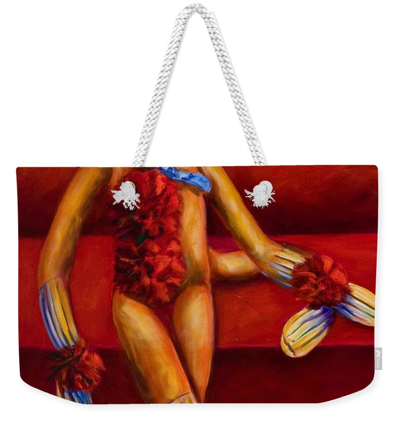 Children Weekender Tote Bag featuring the painting Tell Me All About It by Shannon Grissom