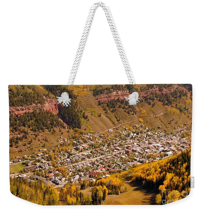 Telluride Colorado Weekender Tote Bag featuring the photograph Telluride by David Lee Thompson