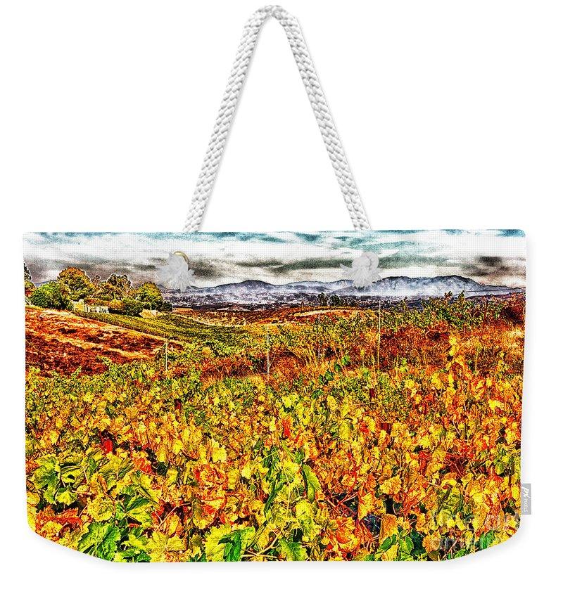 Vineyard Weekender Tote Bag featuring the photograph Temecula Vineyard by Stefan H Unger