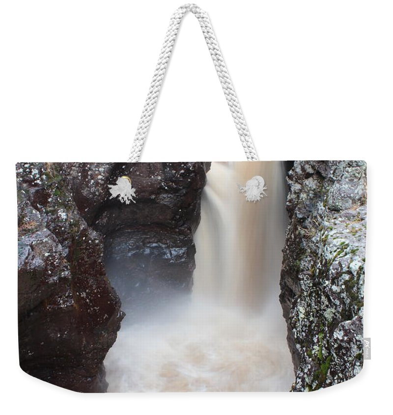 North Weekender Tote Bag featuring the photograph Temperance River State Park Four by Nicholas Miller