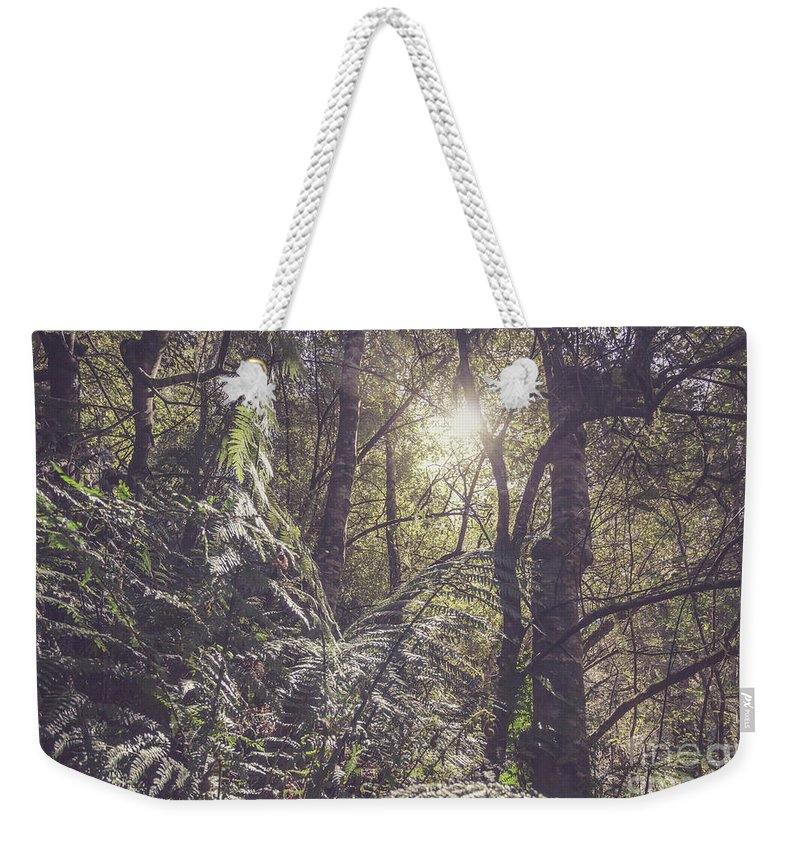 Liffey Weekender Tote Bag featuring the photograph Temperate Rainforest Canopy by Jorgo Photography - Wall Art Gallery