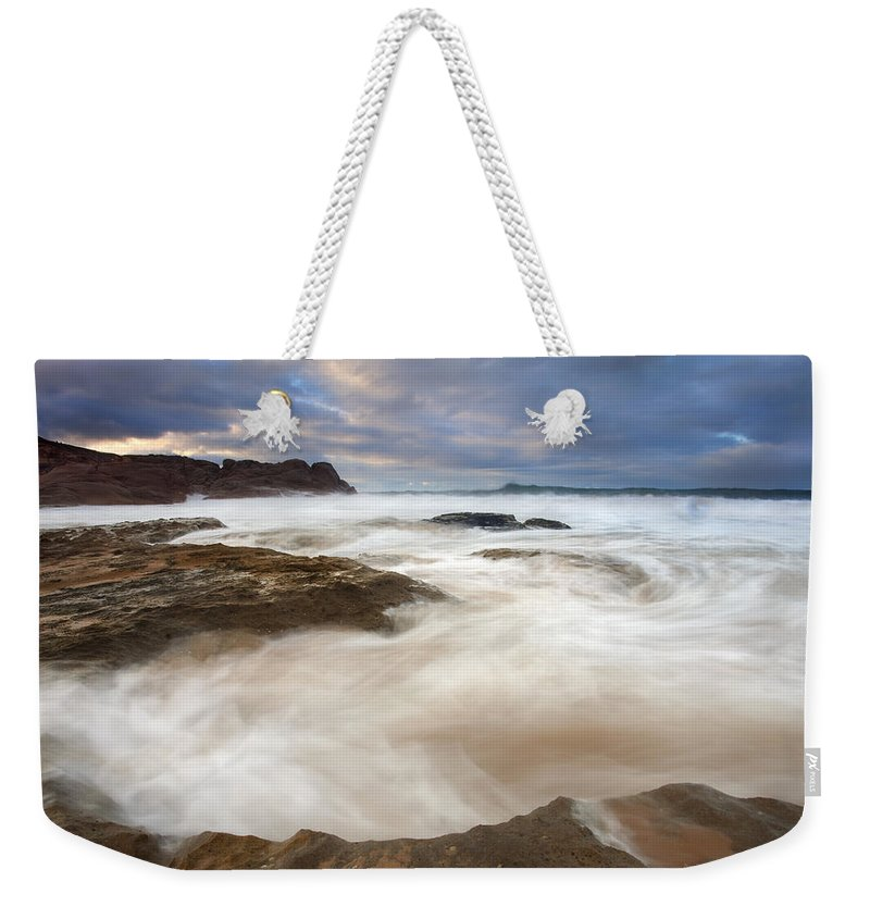 Bowl Weekender Tote Bag featuring the photograph Tempestuous Sea by Mike Dawson