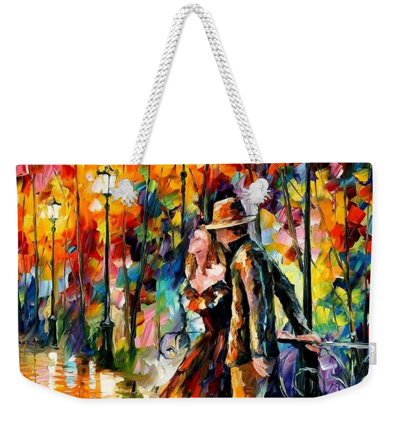 Scenery Weekender Tote Bag featuring the painting Tempter by Leonid Afremov