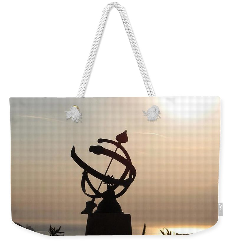 Sun Set Weekender Tote Bag featuring the photograph tempus fugit I by Dragica Micki Fortuna