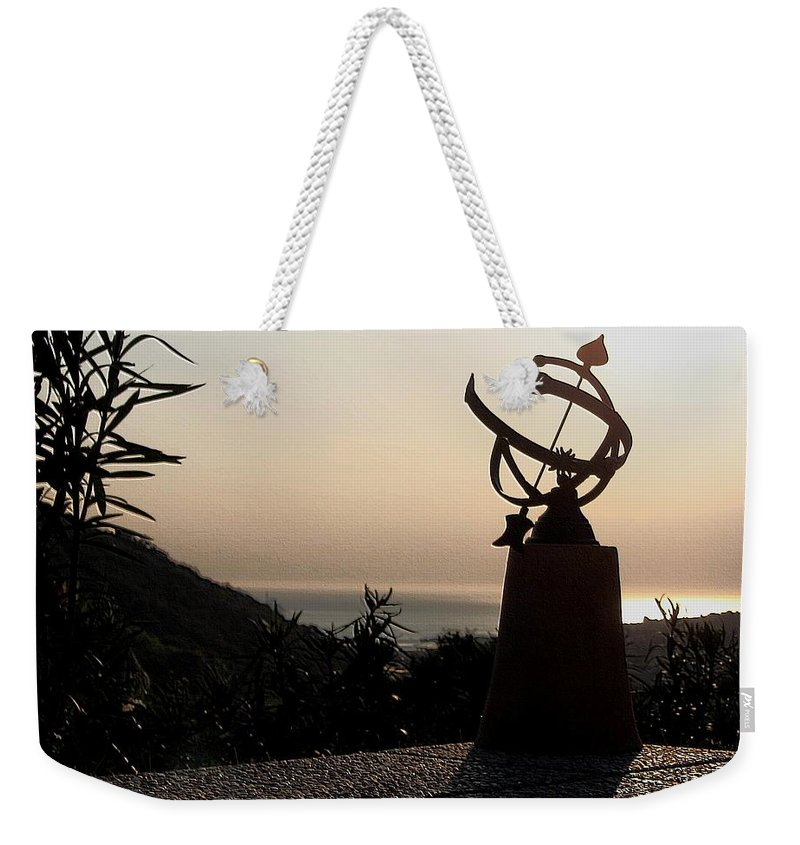 Sun Set Weekender Tote Bag featuring the photograph tempus fugit II by Dragica Micki Fortuna