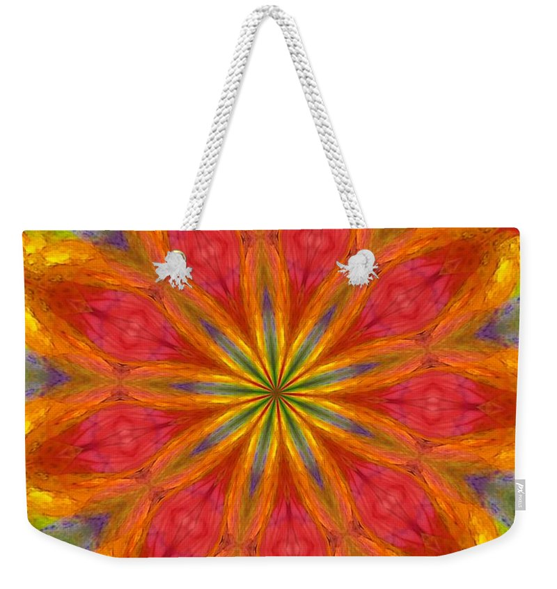 Fine Art Weekender Tote Bag featuring the digital art Ten Minute Art 090610-a by David Lane