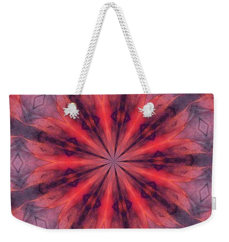 Fine Art Weekender Tote Bag featuring the digital art Ten Minute Art 090610-b by David Lane
