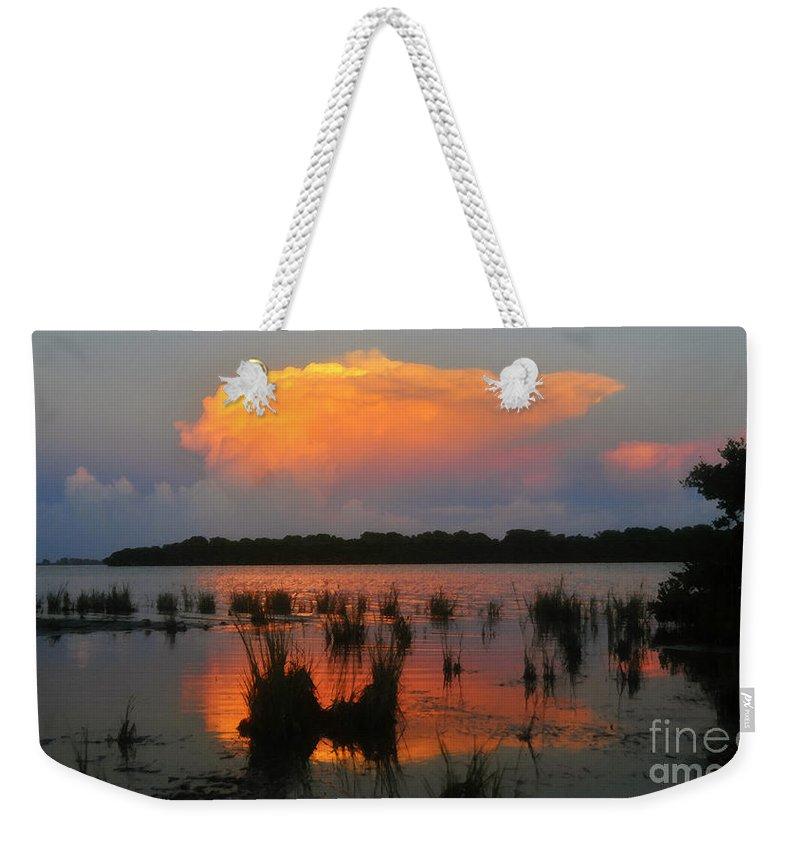 Ten Thousand Islands Florida Weekender Tote Bag featuring the painting Ten Thousand Islands Florida by David Lee Thompson