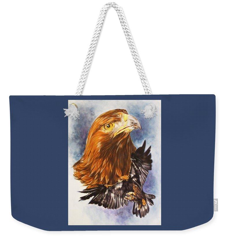 Eagle Weekender Tote Bag featuring the mixed media Tenacity by Barbara Keith
