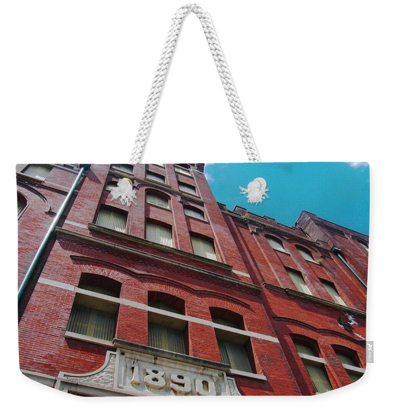 Memphis Weekender Tote Bag featuring the photograph Tennennesee Brewery Memphis Tn by Lizi Beard-Ward