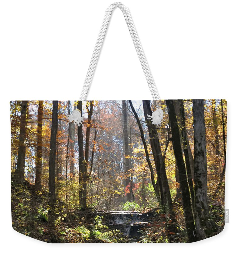 Waterfall Weekender Tote Bag featuring the photograph Tennessee Falls by Michelle Rollins