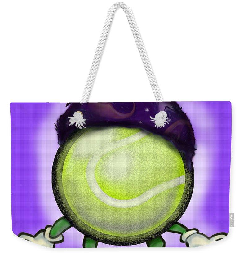 Tennis Weekender Tote Bag featuring the digital art Tennis Wiz by Kevin Middleton