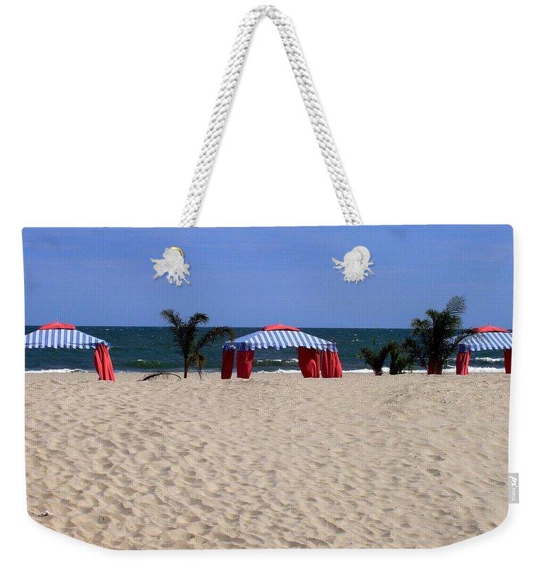 Beach Weekender Tote Bag featuring the photograph Tent Caravan by Deborah Crew-Johnson